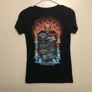 Halloween horror nights 2017 shirt v neck black